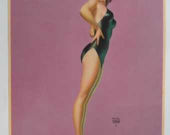 Original c1940 Pin-up Poster 'Watch This One'  by Earl Moran