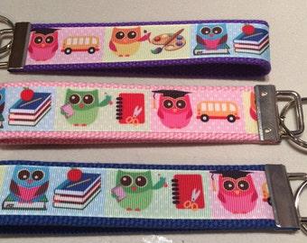 Owl/School Keychain - Great Teacher Gift!