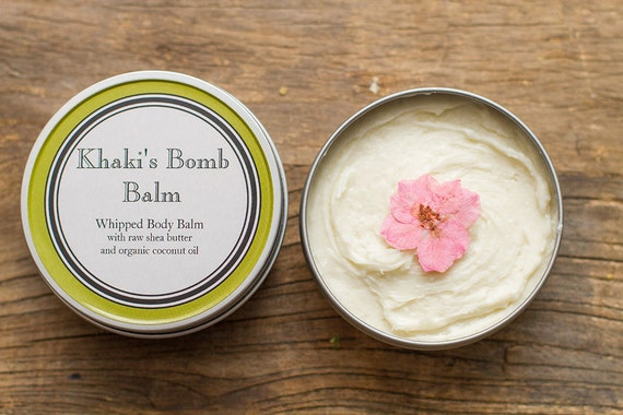 Whipped Geranium & Lemon Raw Shea Butter/Organic Coconut Oil Body Balm 4oz