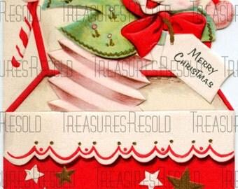 Retro Bear Jack In The Box Christmas Card #198 Digital Download
