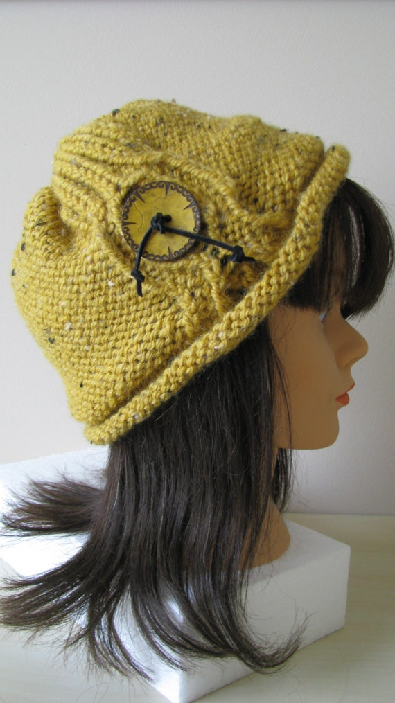 Knitting Patterns For Winter Hats : Knitting pattern womens winter hat Instant Download