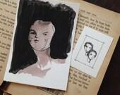 Original Art - Pale Muse - Surreal Art - Portrait Art - Folk Art - Strange Art