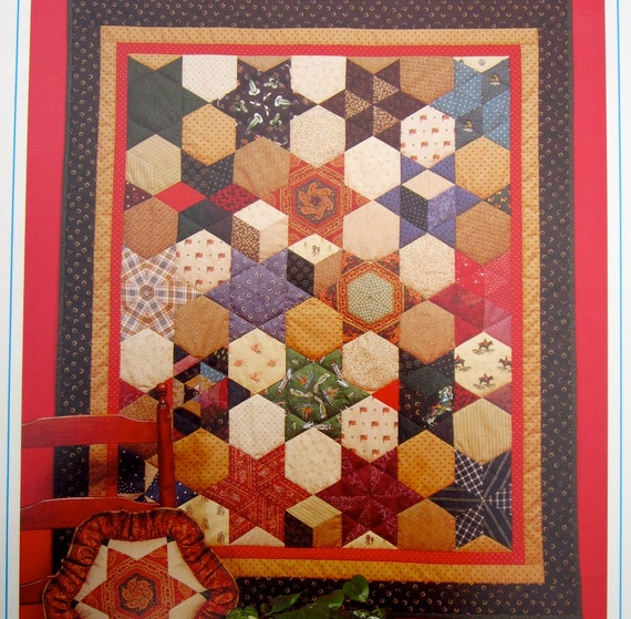 Quilting Pattern Hexagon & Diamond Templates Vintage Pattern