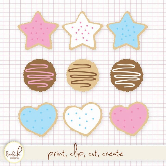 sugar cookies clip art digital files png and jpeg clipart rh etsy com Pumpkin Pie Clip Art Pumpkin Pie Clip Art