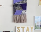 zappa / wall hanging weaving tapestry with tassels / textile art - ALL NATURAL MATERIALS