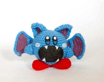 Crochet Zubat Kirby Amigurumi **Made to order**