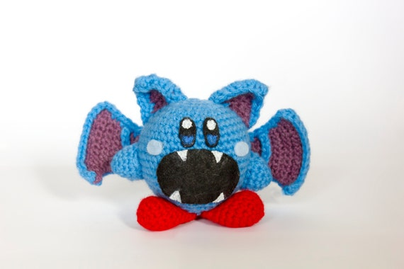 Crochet Patterns Amigurumi Monkey : Crochet Zubat Kirby Amigurumi Made to order