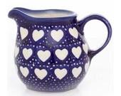 Handmade Blue Cobalt Love Hearts Baby Jug
