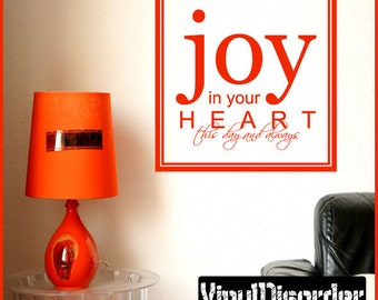 Joy in your heart - Vinyl Wall Decal - Wall Quotes - Vinyl Sticker - Hj001JoyinviET