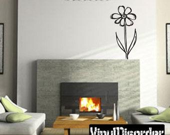 Flower Vinyl Wall Decal Or Car Sticker - Mv004ET