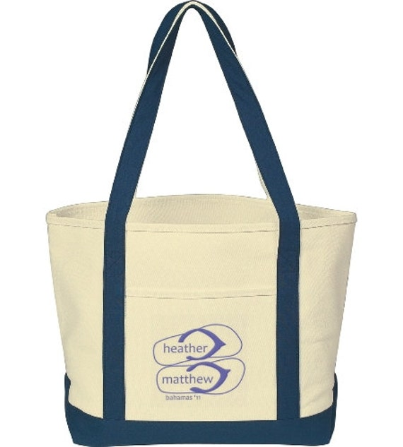 25 Beach Wedding Tote Bags Personalized With By INeedPromotionals