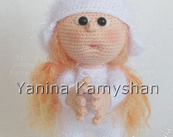 Little Stacy in a bunny costume, amigurumi crochet pattern