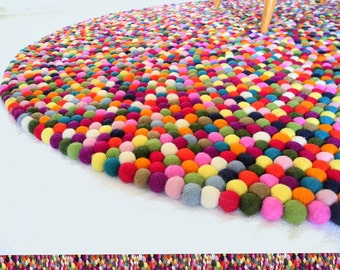 Carpets * felt carpet * felt ball carpet * kids * 160 cm * rug * Feltcarpet