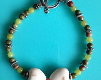 Green & Pink Love Bracelet