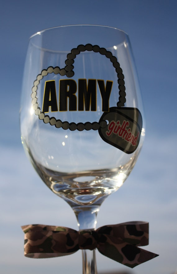Items Similar To Army Girlfriend Extra Large Wine Glass