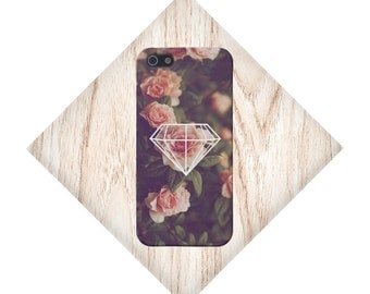 Geometric Diamond x Roses Case for iPhone 6 6 Plus iPhone 7  Samsung Galaxy s8 edge s6 and Note 5  S8 Plus Phone Case, Google Pixel