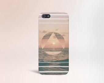 Geometric x Ocean x Beach Design Case for iPhone 6 6 Plus iPhone 7  Samsung Galaxy s8 edge s6 and Note 5  S8 Plus Phone Case, Google Pixel