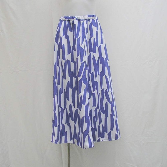 maxi skirt plus size 1x 2x 3x 4x blue and white by rethreading