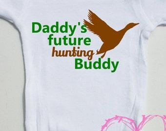 Future Hunting Buddy, Duck Hunting Onesie, Baby Onesie, Baby Boy Onesie, Baby Boy Gift, Baby Shower Gift, Baby Romper, Baby Bodysuit