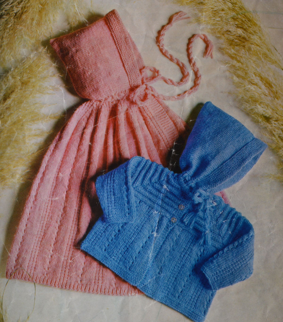 Baby hooded cape pattern vintage knitting pdf INSTANT download