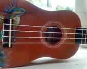 Hand Painted Kingfisher Soprano Ukulele