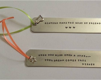 Silver Personalized Bookmarks