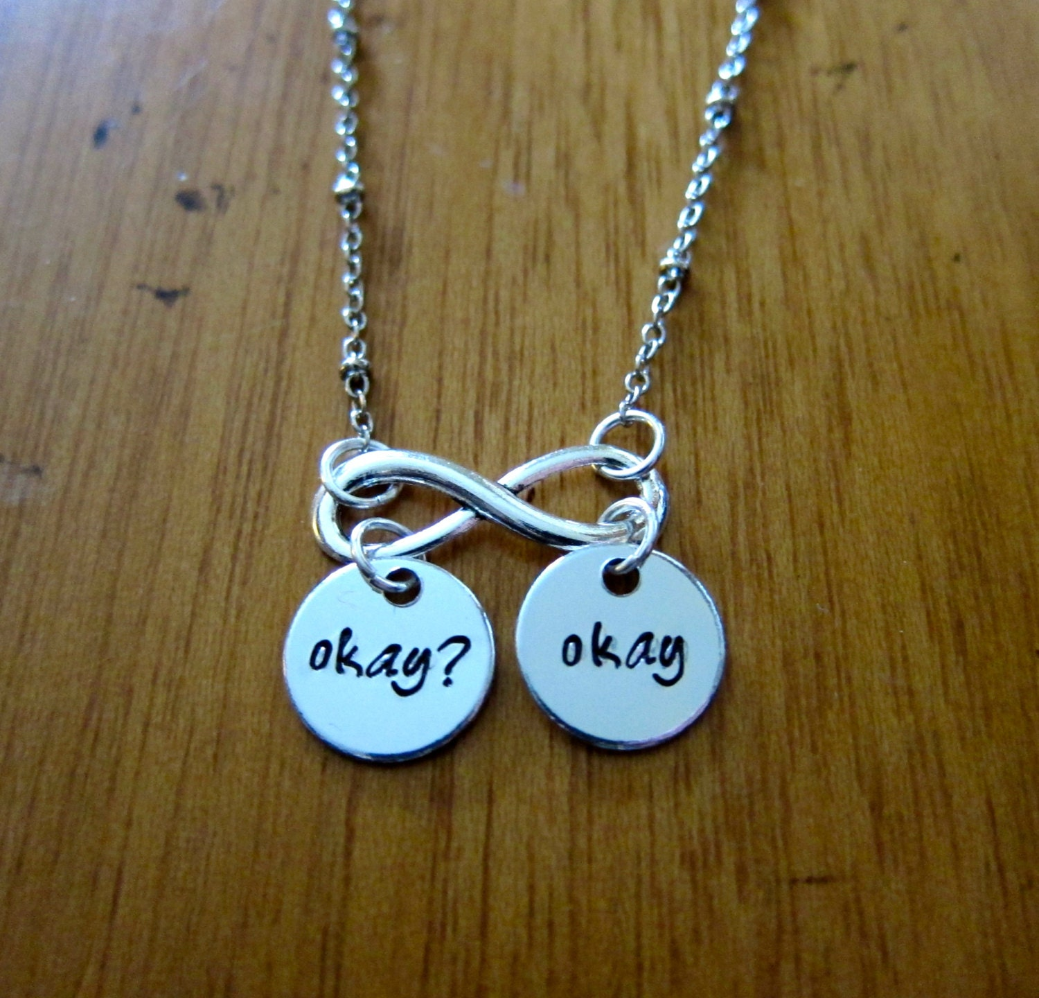 The Fault In Our Stars Inspired Okay Okay Necklace Hazel And
