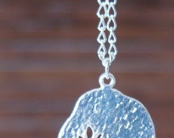 """Etched Tree Pendant 16"""" Choker Necklace"""