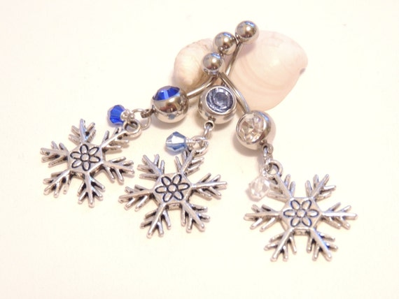 Snowflake Belly Button Ring