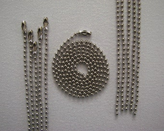 20 silver ball chain necklaces