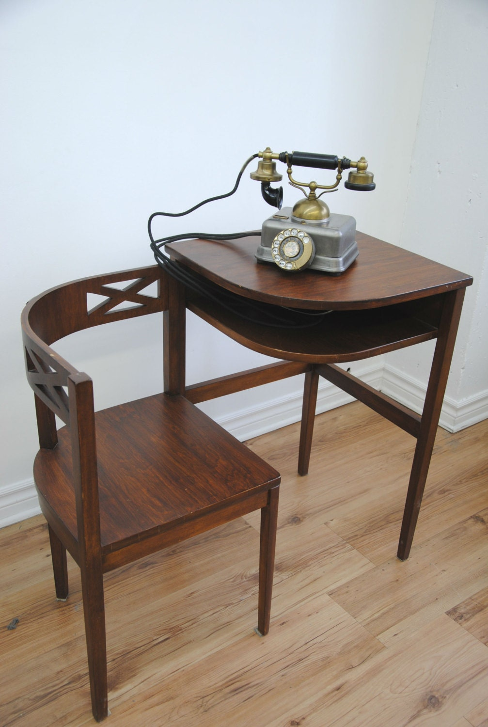 Vintage 1930s 40s Telephone Table Desk