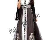 Black Moroccan Kaftan Dress - Fancy Dubai Caftan Maxi Dress Wedding Gown