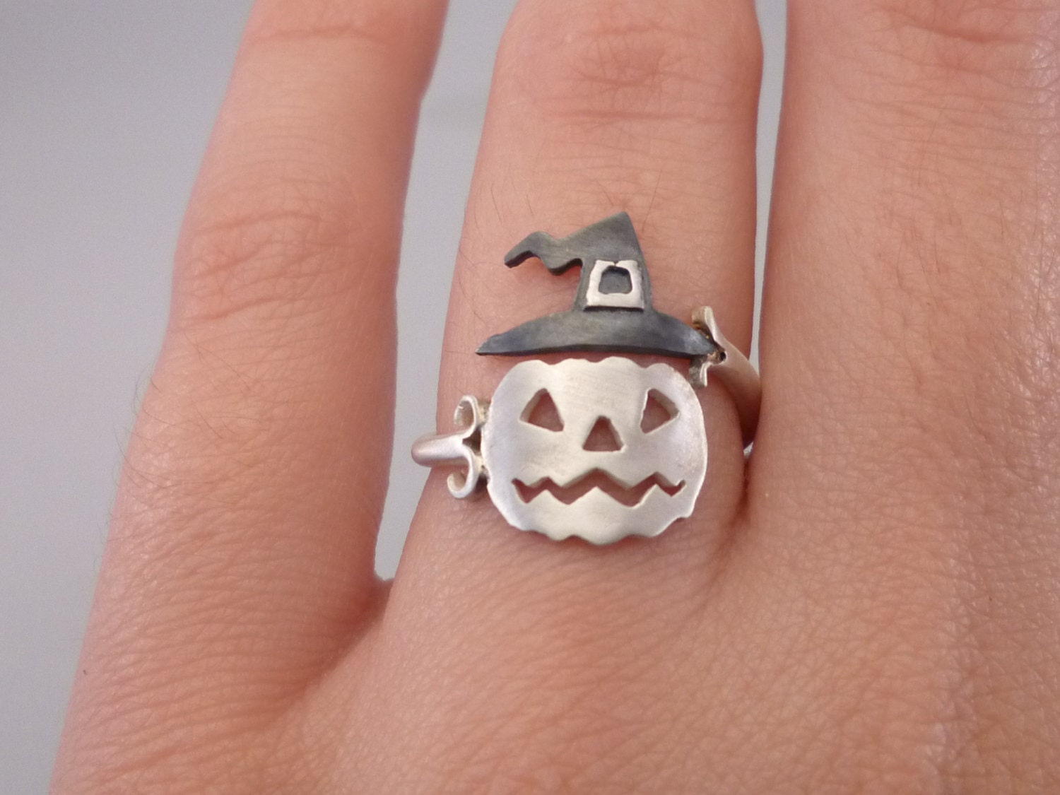 Pumpkin Ring Halloween Jewelry Jack O Lantern Ring Gift For