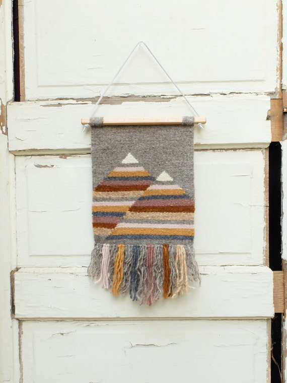 Handwoven Tapestry Woven Wall Hanging Weaving Muted