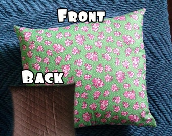 Minty Cherry Blossom Pillow