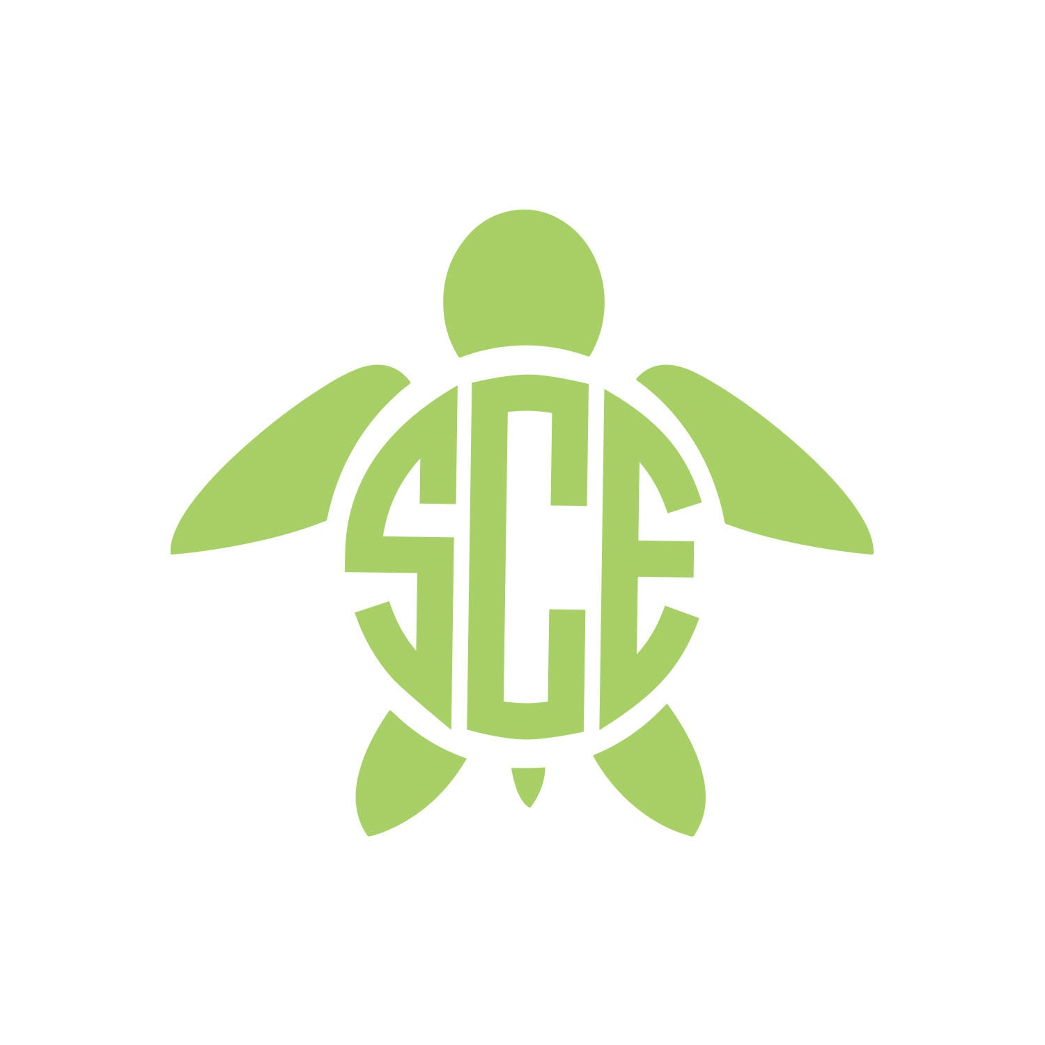 Download Turtle Monogram Vinyl Decal Icon 1 Color Choose from 14