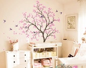 Large Tree with Birds Vinyl Wall Decal Sticker for Baby Room - NT014