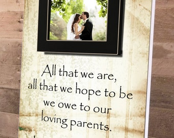 All That We Are, Parents Gift, Personalized Picture Frame, Custom 14x19, Wedding Frame, Anniversary, Father of, Mother of, Vows, Thank You