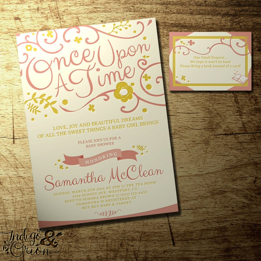 once upon a time baby shower invitation and by indigoandorion