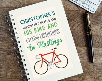 Personalised Communique Bike Notebook