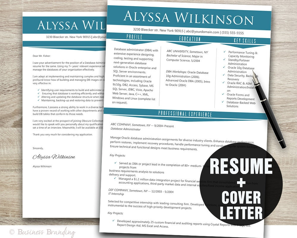 instant resume templates professional resume template instant download resume cover