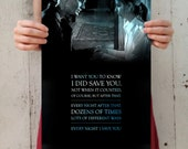 "Buffy the Vampire Slayer: Buffy and Spike - ""Every Night I Save You"" Digital Art 11x17 Poster Print"
