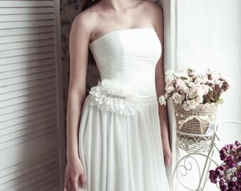 BLACK FRIDAY Short wedding dress M14, Romantic wedding gown, Classic bridal dress, Custom dress, Rustic gown