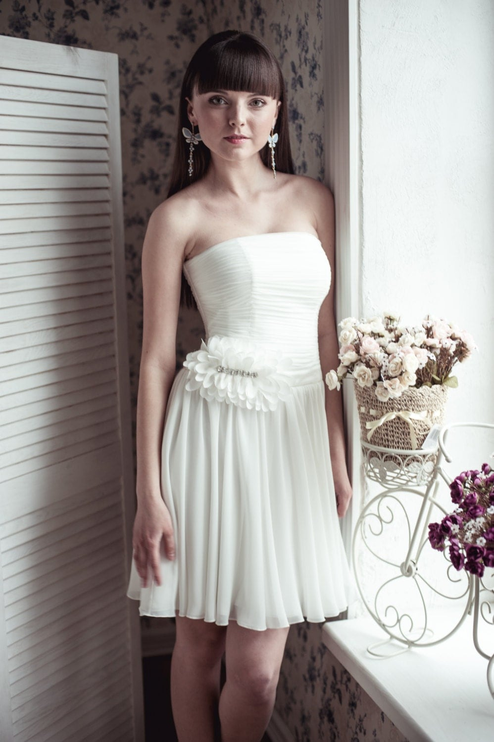 Black friday short wedding dress m14 romantic wedding gown for Black friday wedding dresses