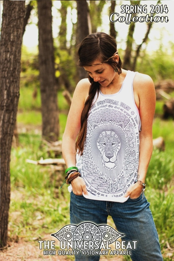 The Great Lion Tank Top —metaphysical, sacred geometry art