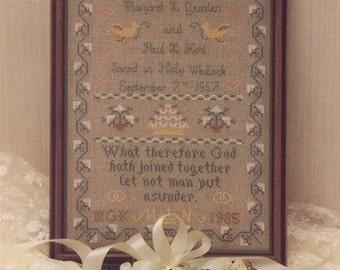 Wedding Sampler Leaflet for Counted Cross Stitch - #7L