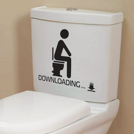 Funny Toilet Peek Sign Sticker: Funny Toilet Seat Bathroom Stickers Decals
