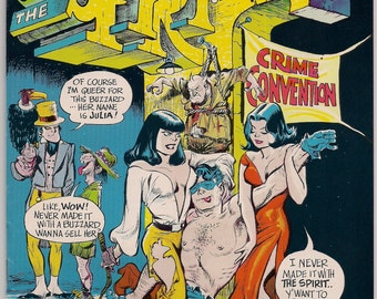The SPIRIT # 1 WILL EISNER Kitchen Sink 1972 Black & White Newspaper 1946 Spirit Sections + New Story