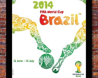 World Cup Soccer Event Brazil | OFFICIAL EVENT Poster | 13 x 19 inches