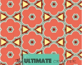 Morrocan flower pattern outdoor permanent vinyl Crafters vinyl
